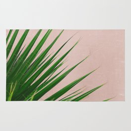 Summer Time | Palm Leaves Photo Rug