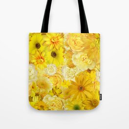 Yellow Rose Bouquet with Gerbera Daisy Flowers Tote Bag
