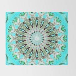 Tropical Floral Mandala Throw Blanket