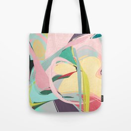 Shapes and Layers no.23 - Abstract Draper pink, green, blue, yellow Tote Bag