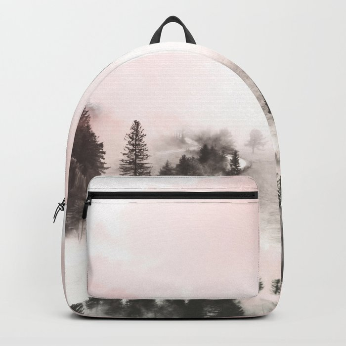Black and white forest Backpack
