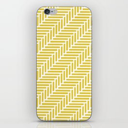Herringbone 45 Yellow iPhone Skin