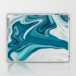 Abstract painting blue Laptop & iPad Skin