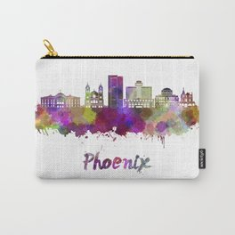 Phoenix skyline in watercolor Carry-All Pouch