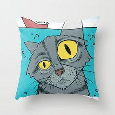 Great White Cat Throw Pillow