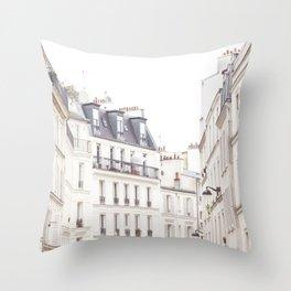 Slightly Paris Throw Pillow