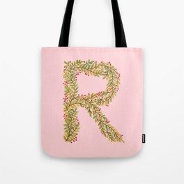 Leafy Letter R Tote Bag