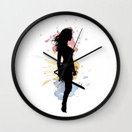 wonder.woman v1 Wall Clock