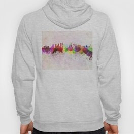 Mississauga skyline in watercolor background Hoody