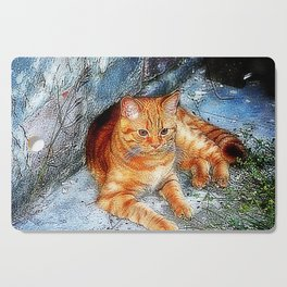 Tiger little cousin Cutting Board