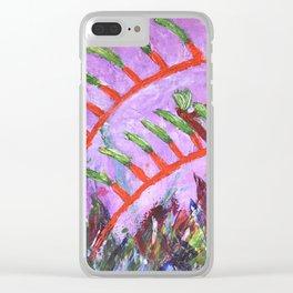 Rustic Kangaroo Paw Clear iPhone Case