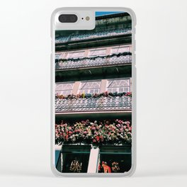 Floral Balcony Clear iPhone Case