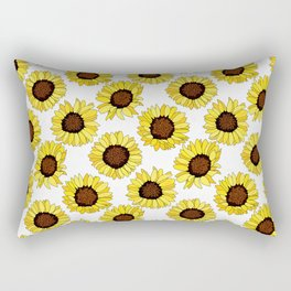 Sunflowers are the New Roses! - White Rectangular Pillow