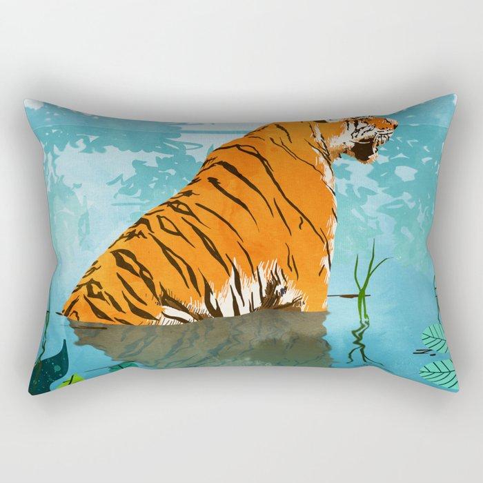 Tiger Creek Rectangular Pillow