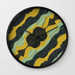Tribal Minty Wall Clock