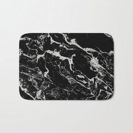 Modern silver black marble pattern Bath Mat