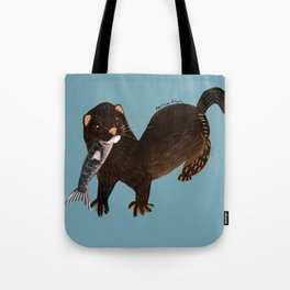 Clever Mink ( Neovison vison) Tote Bag
