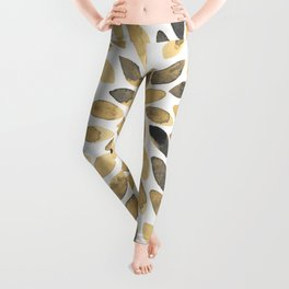 Watercolor brush strokes - neutral Leggings