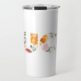 Flowery Language: FUCK Travel Mug