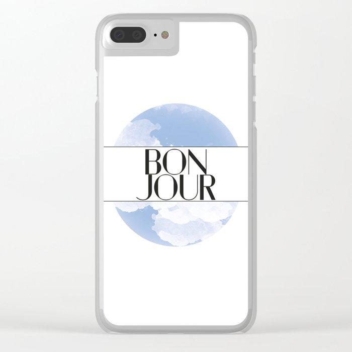 Bonjour Clear iPhone Case