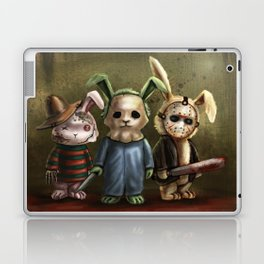 Horror Bunnies - Parody of Jason, Freddy and Michael Myers Laptop & iPad Skin