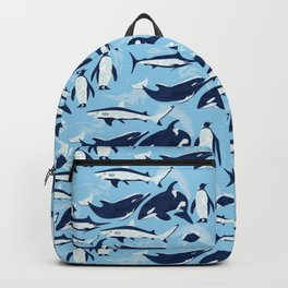 Marine Life Pattern Backpack