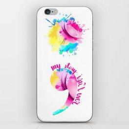 Watercolour Semi-Colon iPhone Skin