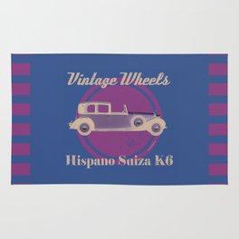 Vintage Wheels - Hispano Suiza K6 Rug