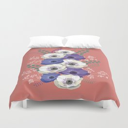 Anemones collection: bouquet II Duvet Cover