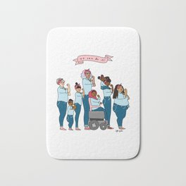 Intersectional Rosie the Riveter Bath Mat
