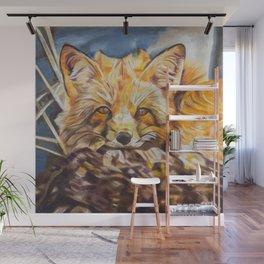 Cozy Fleece Fox Wall Mural