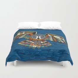 night owl blue Duvet Cover