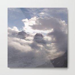 Berg und Wolke (A7 B0177) Metal Print