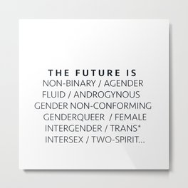 The Future Is... Metal Print