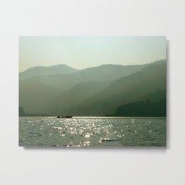 Boat on the Mae Ngat Dam Metal Print