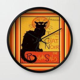 Tournee Du Chat Noir - After Steinlein Wall Clock