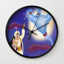 A Whole New World Wall Clock
