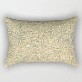 Vintage Leaf Floral Moss Rectangular Pillow