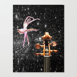 Violin and Ballet Dancer number 1 Canvas Print