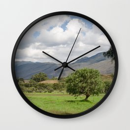 Andes landscape Wall Clock