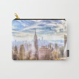 New York Manhattan Skyline Art Carry-All Pouch
