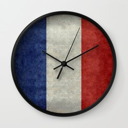 Flag of France, vintage retro style Wall Clock
