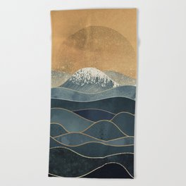 The Great Spring Waves Beach Towel