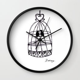 Birdcage Wall Clock