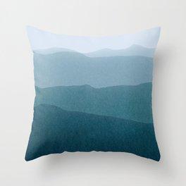 gradient landscape Throw Pillow
