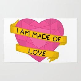 I am made of love crystal heart Rug