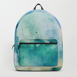 Watercolor abstract many color no.16 Backpack