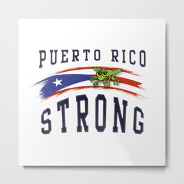PUERTO RICO STRONG Metal Print