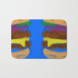 Double Trouble with Cheese Bath Mat