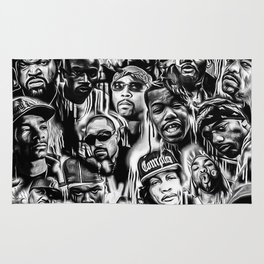 Gangster Rap Legends Print Rug